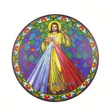 Miséricorde Divine attrape soleil vitrail autocollant de fenêtre réutilisable 6