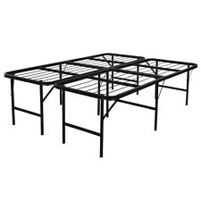 Platform Bed Frame Steel Heavy Duty Queen Size Foldable Bedroom Storage - 17""