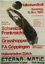 Original Plakat - Hallenhandball - Schweiz - Frankreich