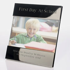 First Day at School Engraved Photo frame - 1st day at school gifts for family