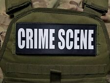"""3x8"""" CRIME SCENE Plate Carrier Morale RAID Patch SWAT TROOPER AGENT Forensics"""