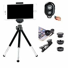 Cell Phone Camera Kit Tripod with Phone Clip Bluetooth Camera Shutter and 3