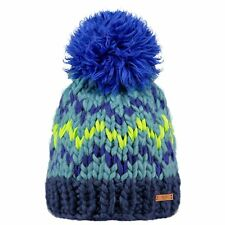 BARTS NEW Womens Blue Chunky Knitted Beanie Nara BNWT