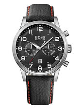 Hugo Boss 1512919 Aeroliner Silver Black Canvas Strap
