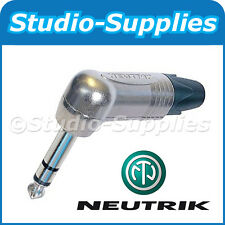 "Neutrik NP3RX 1/4"" 6.35mm Angled Stereo/Balanced TRS Jack Plug Connector Grade A"