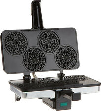 NEW CucinaPro 220 03 Piccolo Pizzelle Baker Waffle Sandwich Toaster Maker Grill