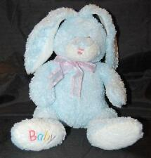 "Ty BABY Blue 2005 Bunny Hop Rabbit 11"" Plush Stuffed  Bean Bag Lovey Toy"