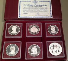 Cayman Islands RARE 25$-  $50 Dollars Silver Proof Coin 1977 Queens of England