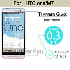 Premium Tempered Glass Film Cover Guard Screen Protector For HTC One M7
