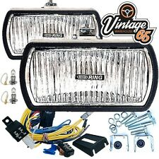 "Land Rover Defender Classic 6"" Halogen Spot Lights Driving Lamps Wiring Kit Pair"