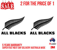 2 x ALL BLACK RUGBY Logo Stickers for your Car, Boat, Truck, Door...