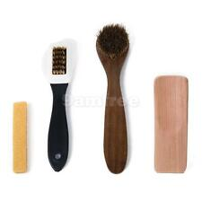 Suede & Nubuck Shoes Boots Rubber Eraser, Cleaning Brush, Short Wooden Shoehorn