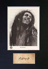 BOB MARLEY Signed Mounted Autograph Photo Print (A4) No62