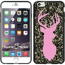 Camo Deer Shilouette Pink For Iphone 6 Plus 5.5 Inch Case Cover