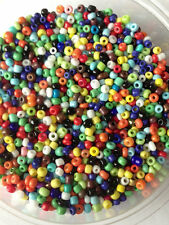 50g glass seed beads - Mixed Opaque - approx 2mm (size 11/0) colour mix