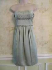 BCBG Max Azria seafoam Green Satin Pleated Strapless Semi-Formal Dress 6