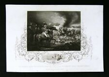 1852 Engraved Tallis Print - Battle of Famars Valenciennes - Flanders Campaign