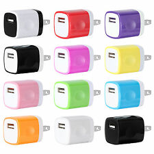 USB Wall Charger Plug Home Power Adapter US Outlet FOR iPhone 5 6 Samsung Lot 12