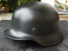 WWII GERMAN HELMET M35 SE64 w/ LINER and CHINSTRAP Very Good Condition
