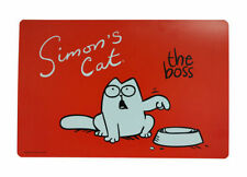 SIMON'S CAT NON-SLIP PLACEMAT RED CAT KITTEN FOOD DRINK FEEDING EATING