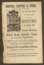 VINTAGE AD FOR DABOLL & WHEELER CENTRAL BOOT & SHOE STORE, NEW LONDON, CT