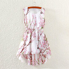 NEW Ladies Womens Mini Boho Summer Print Skirt Evening Cocktail Party Dress
