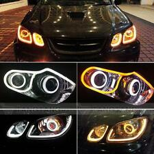 2 x 60cm Flexible White+Yellow AUDI style TUBE daytime light DRL Car & bike LED