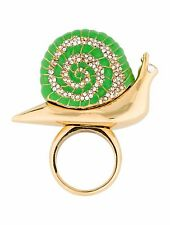 Kate Spade Lawn Party Pave Snail Ring NWT Perfect Kate Wity & Charm Size 7