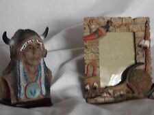 Decorative Indian Head Statue Figurine/3 D Picture Frame Collectible