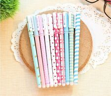 Cute Little Korean Stationery 10PCS Watercolor Pen Gel Pens Set Color Kandelia