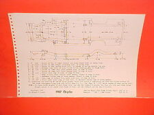 1967 CHRYSLER NEW YORKER 300 NEWPORT CONVERTIBLE COUPE FRAME DIMENSION CHART