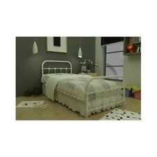 Antique White Bed Twin Metal Frame Victorian Bedroom Steel Cast Iron Furniture