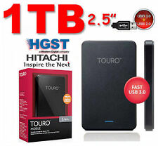 "1TB 2.5"" HITACHI HGST Touro Mobile External Hard Disk Drive 1000GB USB3.0"