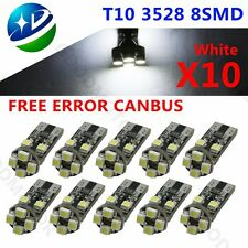 10x ERROR FREE CANBUS 8 SMD LED XENON HID WHITE W5W T10 501 SIDE LIGHT BULBS 12V