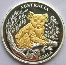 Liberia 2005 Australia Koala 10 Dollars Diamond Silver Coin,Proof
