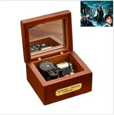 18 Note Wind-up Wooden Music Box with Mirror :Harry Potter HedwigsTheme Prologue
