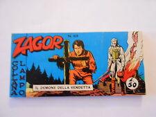 ZAGOR strscia IV° serie n.63 il demone della vendetta collana lampo 1969
