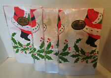 Four Vintage Santa Hallmark Bridge Table Covers PaperTable Cloths 44 x 44