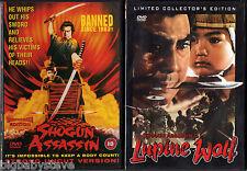 SHOGUN ASSASSIN 1 & 2 LUPINE WOLF Banned Uncut R0 DVDs 684454475821 876543223059
