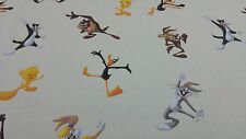 Disney Licensed Bugs Bunny Daffy Duck Comic Cartoon Cotton Curtain Craft Fabric