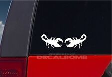 "2 SCORPION decals stickers vinyl graphic diesel rzr turbo bug insect 4.5"" x 3"""