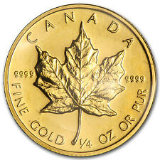 1985 1/4 oz Gold Canadian Maple Leaf Coin - Brilliant Uncirculated - SKU #82823