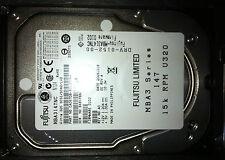 Fujitsu 147GB 15K U320 80-Pin MBA3147NC SCSI Hard Disk Drive