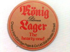 Vintage  KONIG PILSNER LAGER - Beermat / Coaster - double sided THE HEARTY ONE !