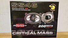 CRITICAL MASS AUDIO SS46 GM 4X6 SPEAKERS BEST DASH JL SOUND COAXIAL CHEVY CAR NR