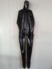 Latex Rubber Catsuit Black Full-body Bodysuit Hood Suit Sizes available XS-XXL