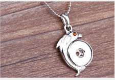 DIY Dolphin Crystal Alloy Pendant for Fit Noosa Necklace Snap Chunk Button
