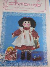 """Vintage 1982 Daisymae Dolls Pattern Jenny 20"""" Cloth rag Doll & Clothes Uncut FF"""