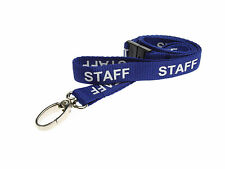 NEW PRINTED STAFF Neck Strap Lanyard Badge ID Card Holder CHOOSE YOUR COLOUR!