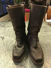 Men's 12R Brown Leather FRYE Harness Motorcycle/Biker Riding Boots Sz 10M